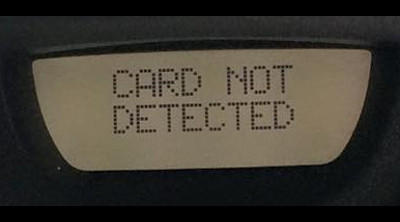 Card not detected Renault